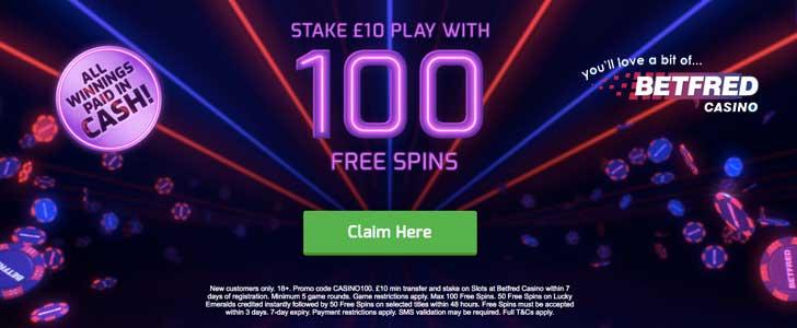 Betfred Casino Bonus Codes