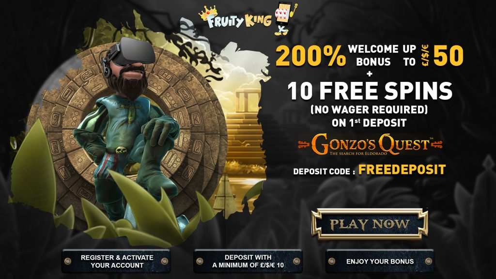 fruity king welcome bonus codes