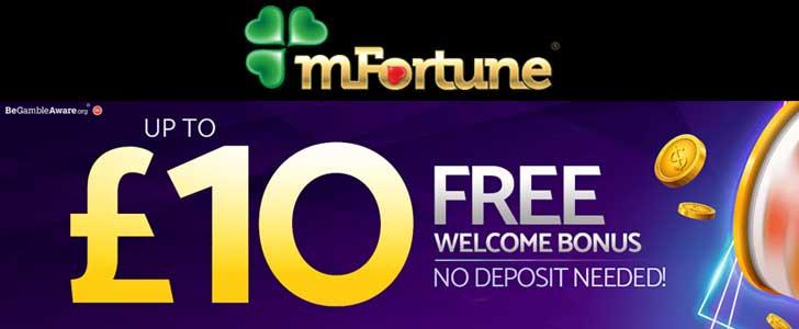 mfortune casino bonus codes