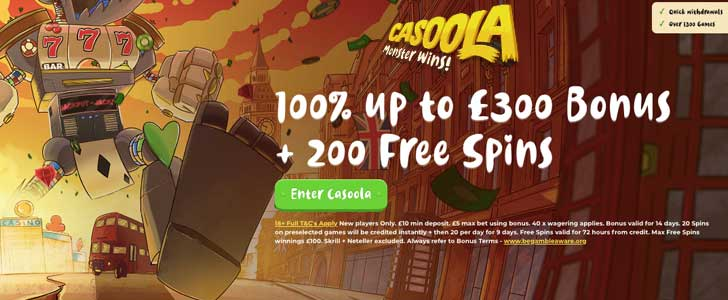casoola uk welcome bonus
