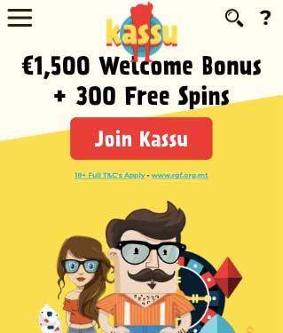 kassu 300 free spins welcome bonus
