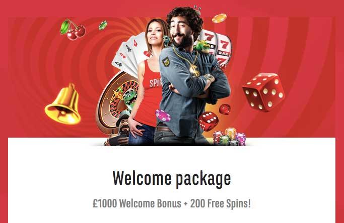 spinit casino welcome bonus