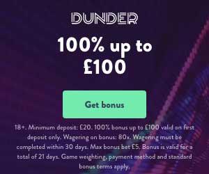 dunder bonus codes uk