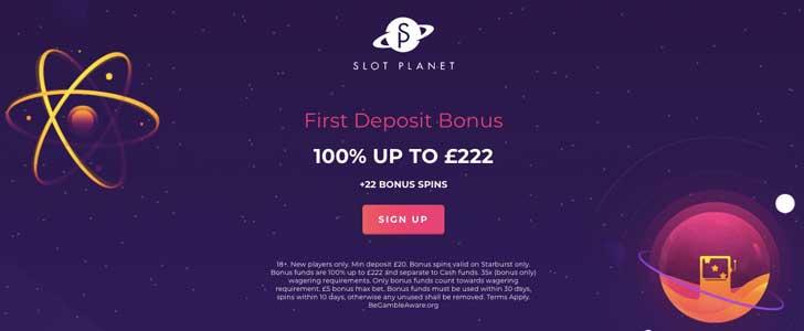 slot planet bonus codes uk