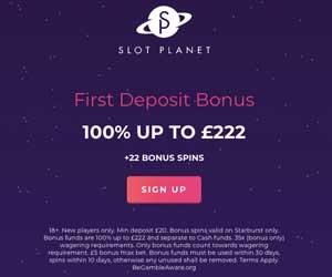 slot planet casino bonus codes uk