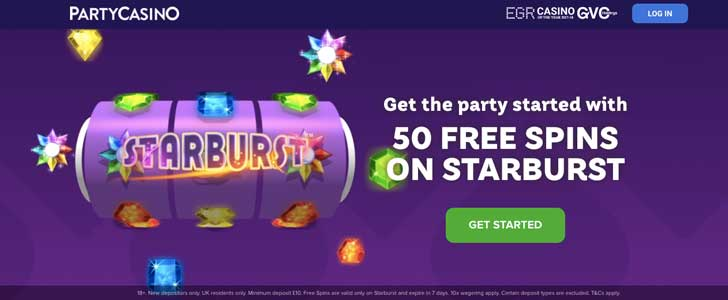 party casino bonus codes